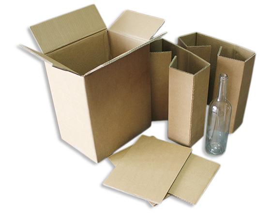 Marosa - Productos - Cajas para botellas de vino - 6 Botellas envío kraft
